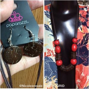 $8 each or 3 for $15 Paparazzi Wooden Necklace